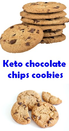 Keto chocolate chips cookies