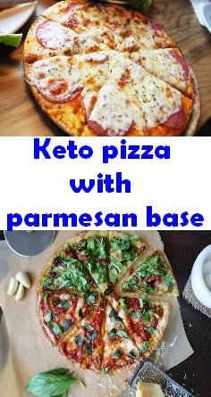 Keto pizza with parmesan base