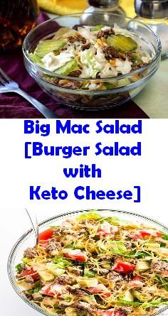 Big Mac Salad [Burger Salad with Keto Cheese]