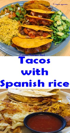 Tacos with Spanish rice
