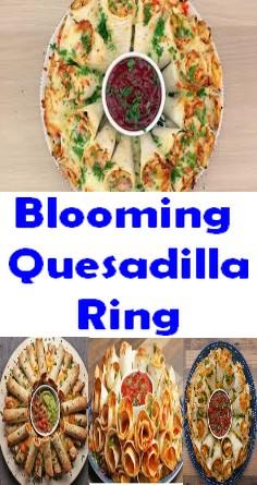 Blooming Quesadilla Ring