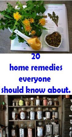 20 home remedies everyone should know about.