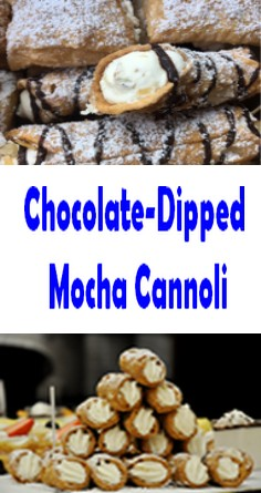 Chocolate-Dipped Mocha Cannoli