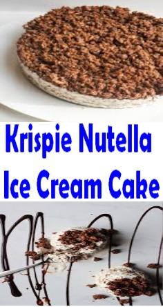 Krispie Nutella Ice Cream Cake