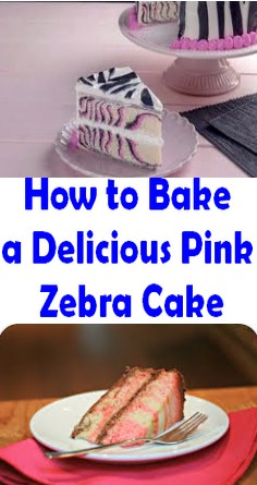 How to Bake a Delicious Pink Zebra Cake